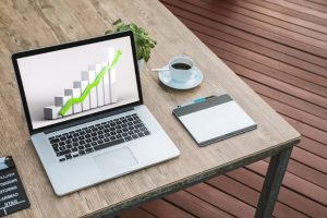 web design newcastle with growth chart